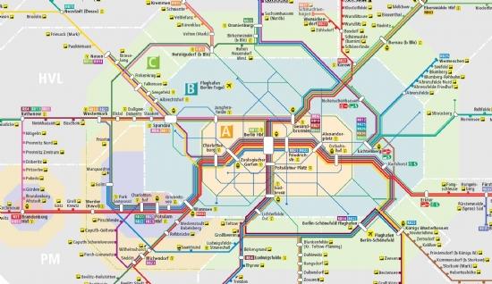De OV zones Berlijn