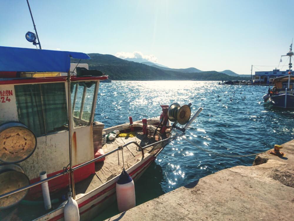 De haven in Argostoli