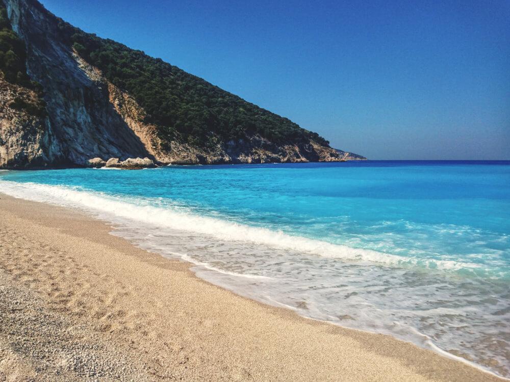 Parelwitte stranden op Kefalonia